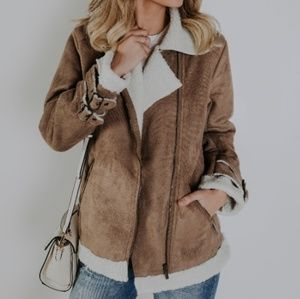 *1 DAY SALE*Denver Faux Suede Shearling jacket NWT